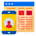 Online Profile Smartphone Mobilephone Icon