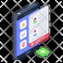 Online Profiles Mobile Profiles Online Resume Icon
