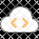 Online Programming Cloud Computing Computer Development Icon