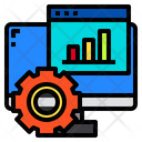 Monitor Website Graph Icon