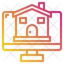 Monitor House Building Icon