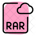 Online Rar File Cloud Rar File Cloud File Icon