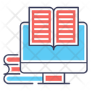 Online Reading Story Book Textbook Icon