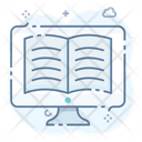 Online Reading Online Learning Online Education Icon
