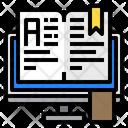 Monitor Open Book Book Icon