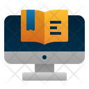 Digital Book Online Learning Study Icon