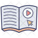 Online Reading Education Library Icon