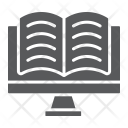 Online Reading Learning Icon