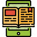 Electronic Book Education Online Learning Icon