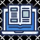 Online Reading Laptop Icon