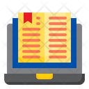Online Reading E Book Elearning Icon