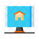 Online Real Estate Online Property Dealing Online Property Icon