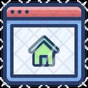 Online Real Estate Estate Marketing Online Property Icon