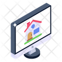 Online Property Online Real Estate Online Home Icon