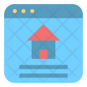 Online Real Estate Website Icon