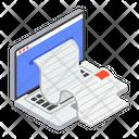 Online Receipt Voucher Receipt Paper Icon