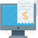 Online Receipt Invoice Icon