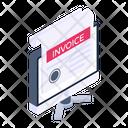Online Receipt Digital Invoice Online Bill Icon