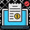 Online Receipt Online Bill Online Invoice Icon