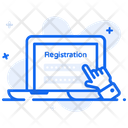 Create Registration Online Form Online Registration Icon