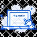 Create Registration Online Form Online Registration Icon