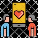 Online Relationship Icon
