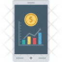 Online Report Mobile Graph Mobile Report Icon
