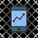 Online Report Online Statistics Mobile Icon