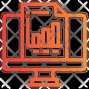 Online Report Online Analysis Analytics Icon
