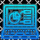 Laptop Presentation Graph Icon