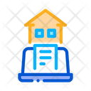 Report Laptop Home Icon