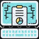 Online Report Analysis Digital Report Icon