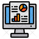 Online Report Information Analysis Icon