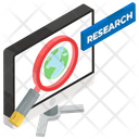 Online Research Educational Research Explore Learning Icon