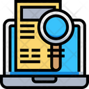 Online Research Research Laboratory Icon
