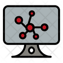 Computer Atom Research Icon