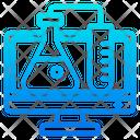 Online Research Tube Computerla Icon