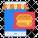 Mobile Restaurant Hamburger Icon