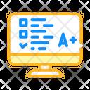 Online Test Color Icon