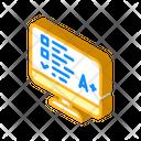 Online Test Isometric Icon