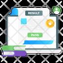 Online Result Virtual Result Digital Result Icon