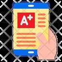 Online Result Grade Online Exam Icon