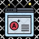 Online Result Grade Sheet A Grade Icon