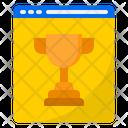 Online Reward Trophy Award Icon