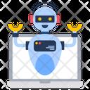 Virtual Robot Online Robot Laptop Robot Icon