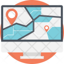 Online Route Web Icon