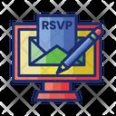 Online Rsvp Invitation Rsvp Icon