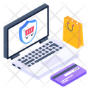 Shopping Security Online Safe Shopping Ecommerce Security Icon