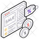 Clearance Sale Ecommerce Sale Label Icon