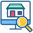 Online Sale Online Property Property Sale Icon
